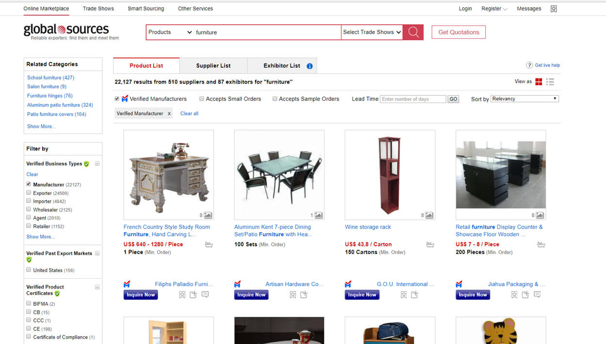 Find Furniture Factory From global source