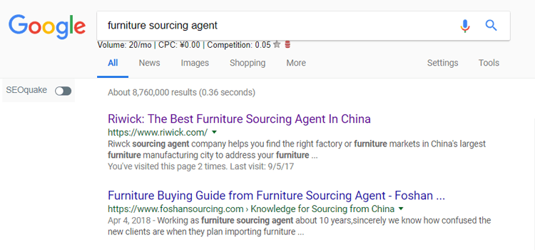 furniture sourcing agent