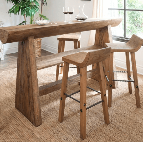 Elmwood table stools