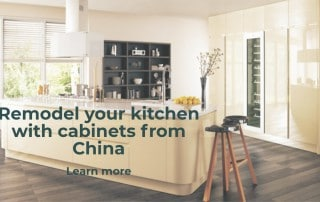 kitchen with cabinets from China