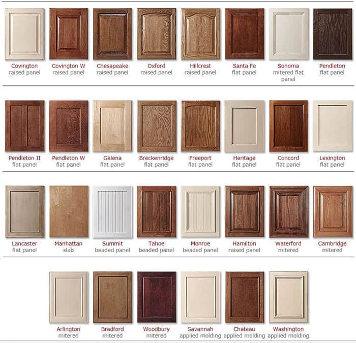 kitchen cabinets Consider door style