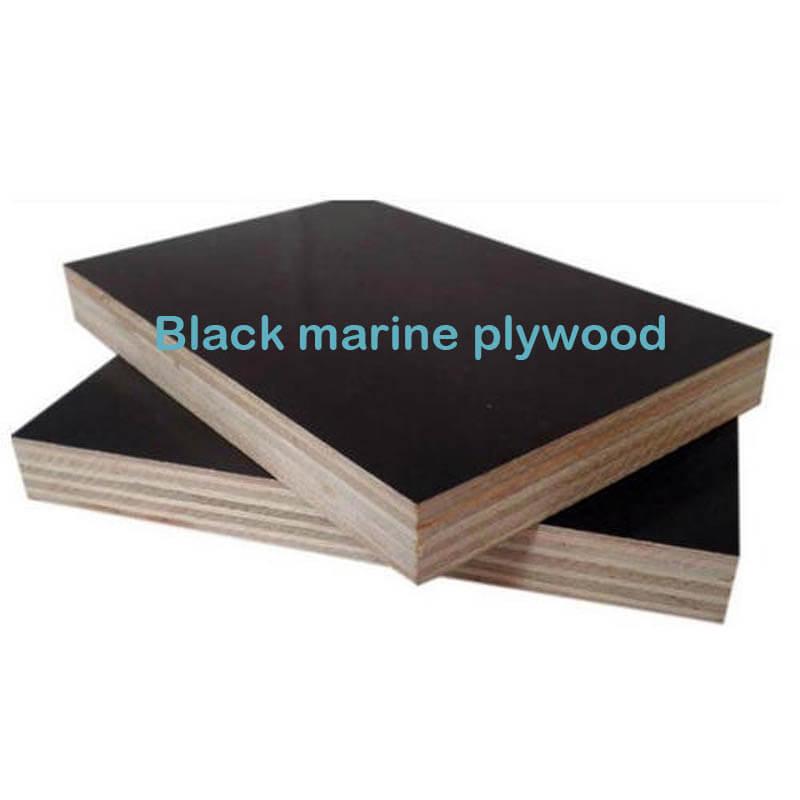Black marine plywood